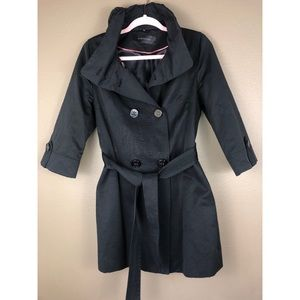 ELIE TAHARI | Trench Style Jacket Coat Small Black